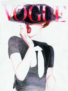 Vogue Cover Art Archival Prints Four sizes. by silverridgestudio