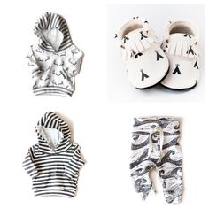 Expected in August at @littlekingarthur  Super cute monochrome outfits! #baby #outfit #mocassins #august