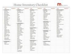 Lots of helpful moving tips - home inventory checklist