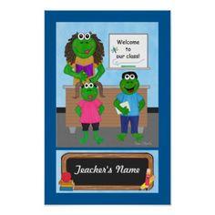 #teacher - #Frog Teacher's Name Poster