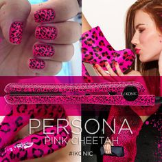 Persona flat iron in Pink Cheetah by iKONIC Precision Styling Tools! NOT coated! Pink Cheetah, Styling Tools, Ceramic Plates, Flat Iron, 100 Pure, Persona, Pure Products, Pottery Plates, Hair Iron