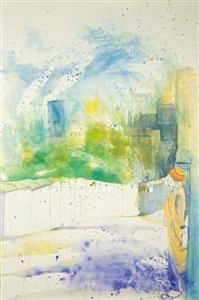 "Concha Osuna, ""Acuarelas 8"" | Watercolor on Paper | $4,500 | Source: http://www.art-mine.com/artistpage/concha_osuna.aspx | Agora Gallery | Contemporary Fine Art | NYC, NY."