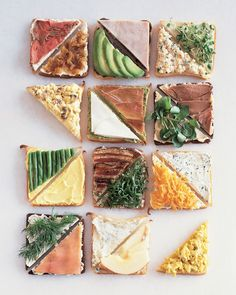 For your tea sandwiches, balance flavors and textures by partnering spreads and fillings of contrasting tastes like we did here with smoked duck and chutney butter.