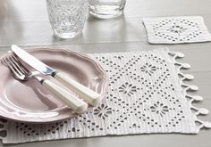 A Decorative crochet placemat & coaster set that will compliment any table…