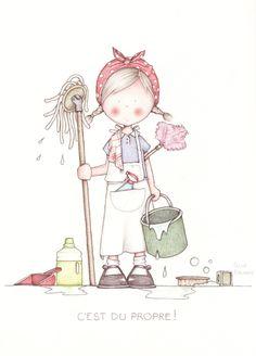 by Celine Bonnaud Illustration Mignonne, Cute Illustration, Art Mignon, Illustrations, Penny Black, Cute Drawings, Cute Art, Celine, Art For Kids