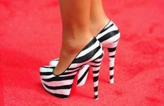 Zebra high heels 2013