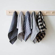 "These long-lasting natural linen kitchen towels will only get softer and more absorbent with each wash. A nifty cotton loop allows for it to easily hang-dry.Made in Lithuania 17.5"" W  x ..."