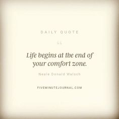 Az élet a komfortzóna végénél kezdődik  #fiveminutejournal #dailyquote #eszterslife #outofthecomfortzone