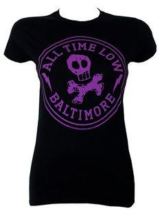 All Time Low Baltimore Ladies Black T-Shirt £16