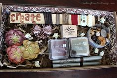 creative arts and craft gift basket.