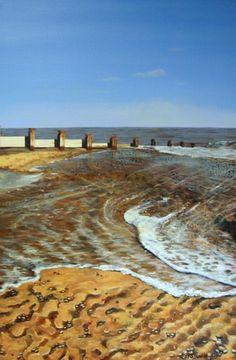 Ebb and Flow - Karen SJ Keable - Southwold Art Gallery, Beach Paintings, Sea Paintings, Suffolk Art, Beach Scenes