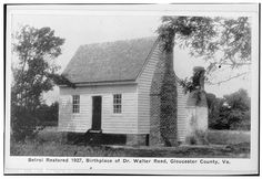 Dr. Walter Reed House (Belroi), early 19th Century, Gloucester, Virginia, Birthplace of Dr. Walter Reed