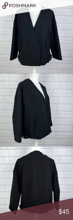 Zara Basic Outerwear Dept Black Oversized Jacket New without Tags Women's Zara Basic Oversized Jacket Size Small - Runs big Black 100% Polyester and Lined Side buckles and split material Loose fitting jacket - a bit oversized Nonsmoking home New Condition Zara Jackets & Coats