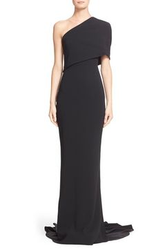 STELLA MCCARTNEY 'Shiloh' One-Shoulder Column Gown. #stellamccartney #cloth #