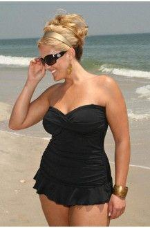 Always For Me Isabella Plus Size Tankini Black