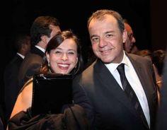 Sérgio Cabral: Adriana Ancelmo e Sérgio Cabral em foto para coluna social em 2013