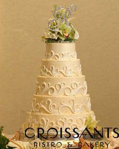 Myrtle Beach Wedding Cake White Wave Detailing Sc