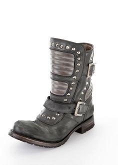 Biker Boots Studs dark grey: SENDRA BOOTS, Spain