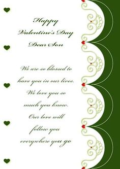 Valentineu0027s Day Message For Son   1000 Images About Printable Valentine  Cards On Pinterest
