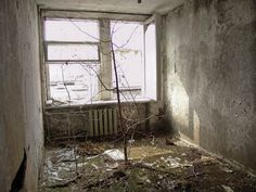 Abandoned hotel room in Pripyat