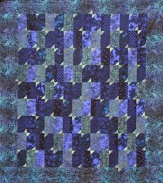 Fly By Blue, by Alethea Ballard; Purple Quilts, Kitty, Blanket, Fabric, Artist, Pattern, Blue, Inspiration, Quilting