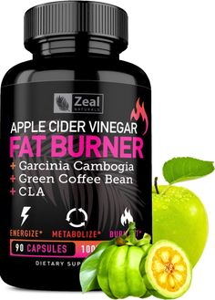 Apple Cider Vinegar Weight Loss Pills for Women - Garcinia Cambogia + Apple Cider Vinegar Pills for Weight Loss w. CLA & Green Coffee Bean Green Tea Fat Burner Pills - Detox Cleanse Weight Loss Pills #1 APPLE CIDER VINEGAR PILLS FOR WEIGHT LOSS – If you're looking for an Apple Cider Vinegar Fat Burner to lose weight fast, suppress your appetite, and give you clean and powerful energy, you've found it. With pure apple cider vinegar, garcinia cambogia, cla, gr