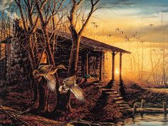 Terry Redlin landscape oil painting