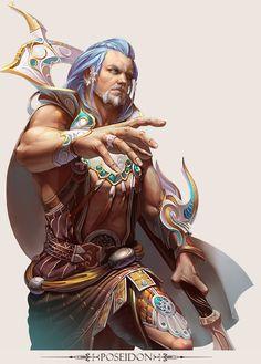 MMo Game Character design - Poseidon by yuchenghong