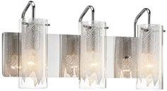 Elan Krysalis Glass Chrome 19 3/4-Inch-W Bathroom Light