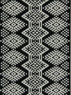 Black Ikat Upholstery Fabric. $39.00, via Etsy.