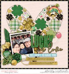 Get festive - St. Patricks day template by Cindy Schneider This Time of Year March by Grace Lee