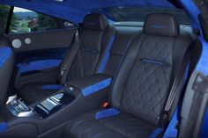 two tone blue leather custom car upholstery - Google Search