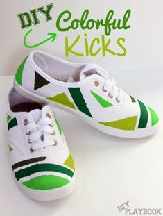 Add some green flair to your white sneakers just in time for St. Patrick's Day