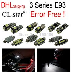 (47.99$)  Watch now - http://aiv2d.worlditems.win/all/product.php?id=32322142383 - 20pc X DHL shipping perfect LED Interior Light Kit for bmw E93 328i 335i 335is M3 convertible(2006-2012)