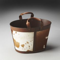 Hors D'Oeuvres San Angelo Hair-On-Hide Magazine Basket