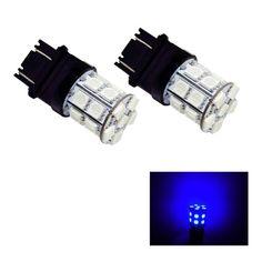 PA® 2pcs 3157 3156 3457A 20 SMD LED Auto Stop Light/ Tail Light / Turn Signal Light Bulbs Blue-12V  #BlueLED  #TailLight  #StopLight  #3157  #20SMDLED  #T10