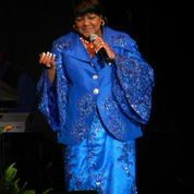 Rev. Shirley Caesar enertains the Ladies of the Royal Blue and White Sisterhood at the 2014 Boule in Washington, D. C. during the Night of Entertainment.