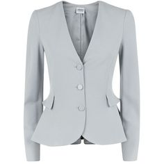 Armani Collezioni Ruffle Peplum Soft Blazer and other apparel, accessories and trends. Browse and shop related looks.