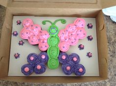 Butterfly cupcake pull apart