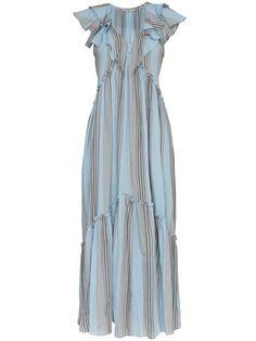 426dd7a0387 Купить Three Graces платье-макси  Wilhelmina Marari  в полоску Полосатые Платья  Макси
