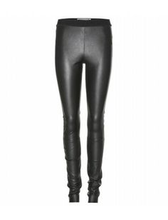 """""""Every wardrobe needs a pair of luxe leather leggings. Elasticated at the waist, By Malene Birger's slick black pair is beautifully supple, and uniquely crafted with minimal seams for a streamlined finish."""""""