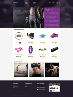 Fitness Equipment & Products Online Store #Virtuemart #template. #themes #business #responsive