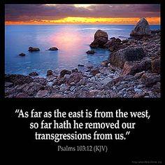 Imagem inspirada para Salmos 103: 12