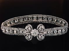 Necklace of diamonds. Originally made for Catherine the great! with the diamond bow added later.