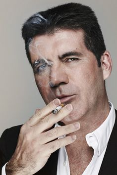 Simon Cowell: ''The Voice' is a rip-off of 'The X Factor'' TV mogul says he finds rival show 'a puzzle' and says it should be on the radio Smoking Causes Cancer, People Smoking, Celebrities Then And Now, Britain Got Talent, Up In Smoke, Simon Cowell, Famous Photographers, Talent Show, American Idol