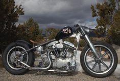 Image of 1966 Harley Shovelhead Bobber Motorcycle named AC6 by Trent of Atomic Custom.