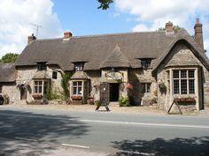 Pretty English pub & restaurant : The Wadworth Inn, Wadworth, Wiltshire.