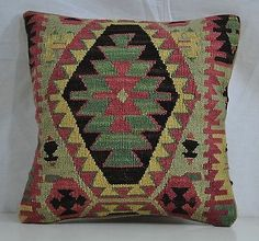"16"" Wool Kilim Kelim Rug Decorative Throw Pillow Case Cushion Cover 5362"