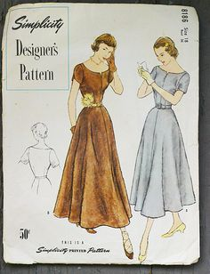40's M Vintage  Designer Dress New Look Street by BobbinUpandDown, $30.00