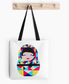 Original design by OHKISSA.  Goe Babushka Doll painting made into, totes, pillows, iPhone cases, and much more. Great for birthday presents, christmas present, housewarming, heck just buy one for yourself. :)